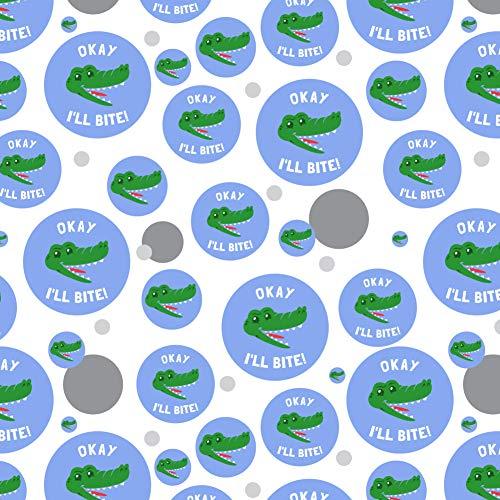 GRAPHICS & MORE Okay I'll Bite Crocodile Alligator Funny Humor Premium Gift Wrap Wrapping Paper Roll