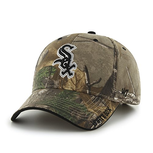 ('47 MLB Chicago White Sox Frost MVP Adjustable Hat, One Size, Realtree Camouflage)