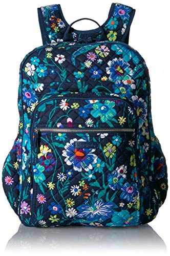 (Vera Bradley Iconic XL Campus Backpack, Signature Cotton, Moonlight Garde)