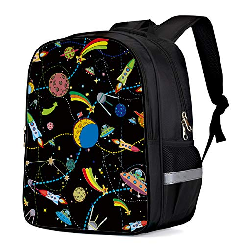 School Backpacks for Girls/Boys/Kids, Cartoon Lunar orbit Printed Primary School Bags Students Bookbag Laptop Bag Travel Casual Daypacks ()