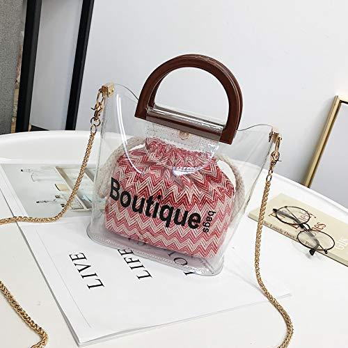 The Hand Tote Bucket Messenger Mini Simple 2018 Personality Bag Wild Canvas Chain Pu w8RBEgCnqR