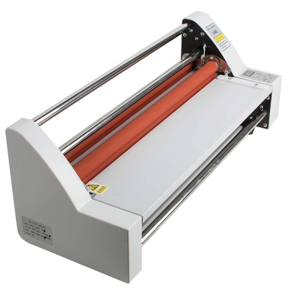 17''Laminating Machine Hot Cold Roll Laminator 450 mm Single&Dual Sided Electronic Temperature Control LED Display by Fencia (Image #2)