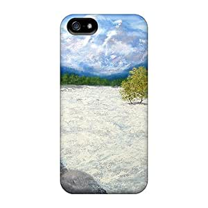 Special LAZO Diamond Skin Case Cover For Iphone 5/5s, Popular White Water Manali Phone Case