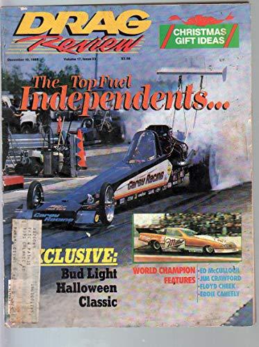 Drag Review-IHRA-12/10/1988-Top Fuel Independents-John Carey-Halloween Classic-VG