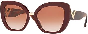 Valentino Gafas de Sol V Logo VA 4057 Burgundy/Brown Pink ...