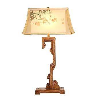 Bois Acajou Salon En De Lampe Table Massif Vintage Étude Chinois rtshCdxQ