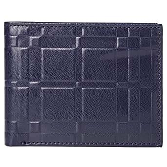 Goldedge Wallet for Men - Leather, Navy Blue