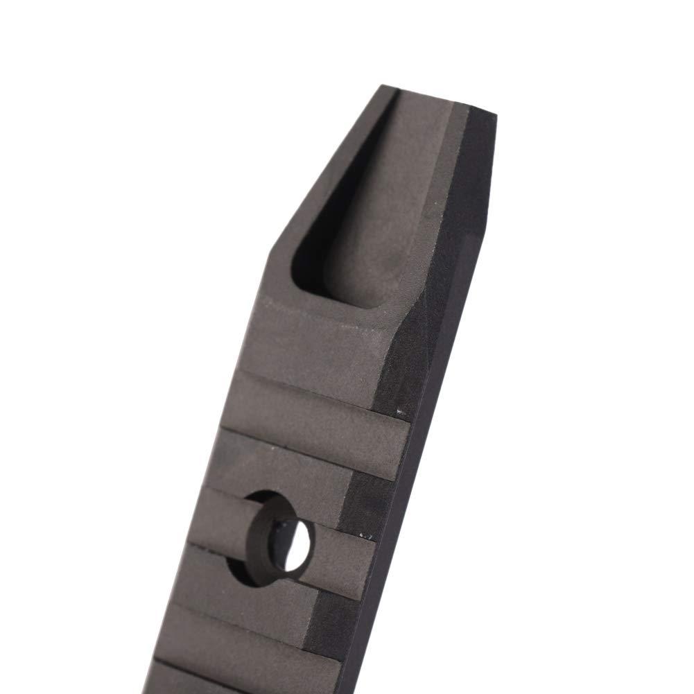 5-Slot//7-Slot//9-Slot Picatinny Rail Secci/ón Aluminio Adaptador Secci/ón Picatinny Weaver Rail para Keymod Handguard