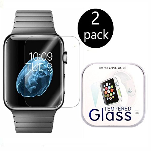 [2-Pack] Apple Watch 42mm Smart Watch Screen Protector, Xinplas [Tempered Glass] 9H Hardness, Anti-Scratch, Bubble Free