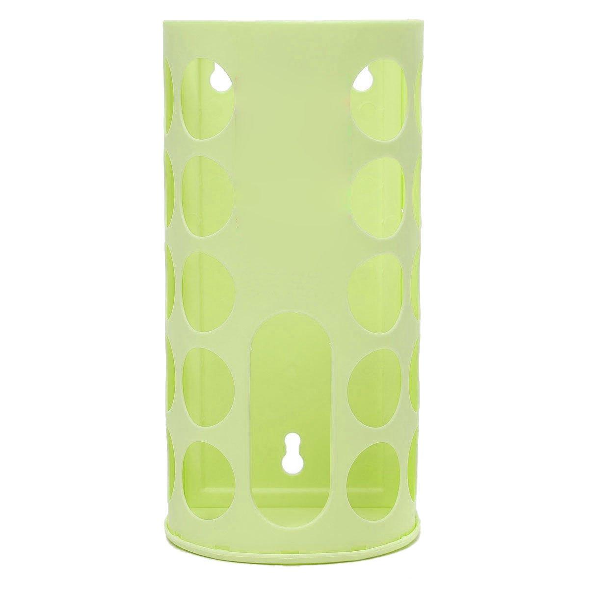 Soporte de bolsa de almacenamiento - SODIAL(R)bolsas de plastico de almacenamiento de compras para vida elegante estante de titular de almacenamiento verde: ...