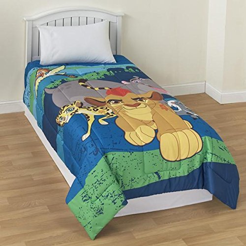 Disney Lion Guard 4 Pc Bedding Set Comforter and Sheets (Twin Size)