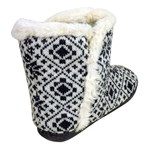 3 Womens Eskimo Fur Slipper 661 Ankle 8 Grey Ladies Yetti Boot Quality White Bootee Slippers Furry 0c6qWR0rxv