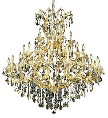 Karla Gold Traditional 41-Light Grand Chandelier Heirloom Handcut Crystal in Golden Teak -2380G52G-GT-RC--52