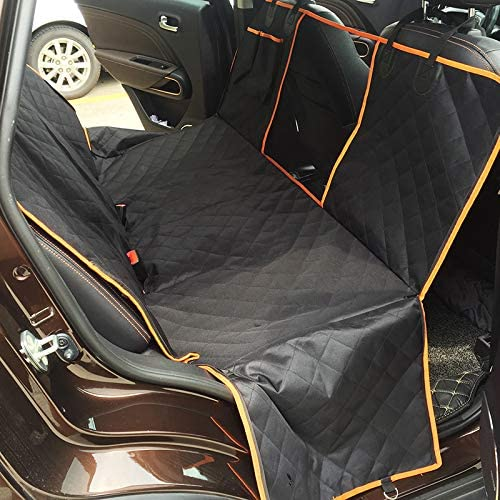 Sinoluck 100 Waterproof Car Seat Covers, Dog Car Seat Covers with Mesh Visual Window, Pet Dog Seat Cover Hammock Back Seat for Cars,Trucks SUVs