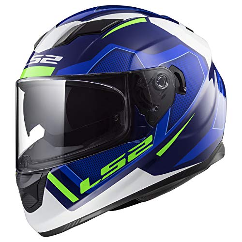 LS2 Helmets Motorcycles & Powersports Helmet's Stream (Axis Blue Green White, Medium)