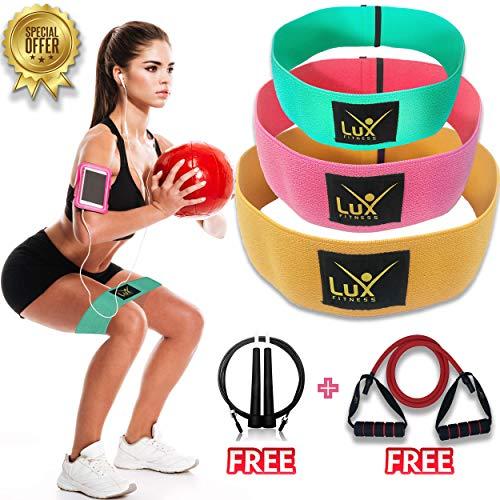 Lux Fitness Booty Resistance Bands Hip Circle Loop Exercise