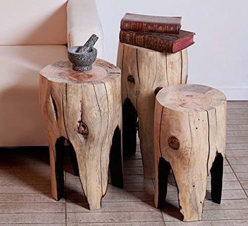 Amazon.com: Tree Stump Table, Coffee Table, Small Table