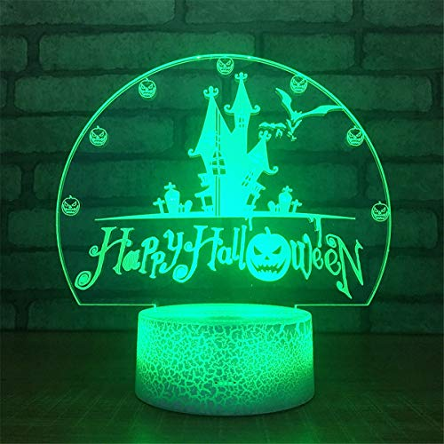 Cute Smart Touch Halloween 3D Remote Control Optical Illusion Night Light Crackle Paint Base Table Desk Lamps 7 Colors Change Glow LED Art Sculpture Beside Lights Lighting Effects Birthday Holiday Gif]()