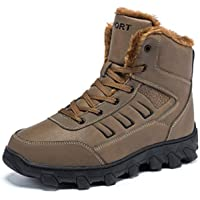 Ikenip Men's Fur-Lined Snow Boots (several colors)
