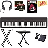 Yamaha P-45 Digital Piano - Black Bundle with Stand, Bench,...