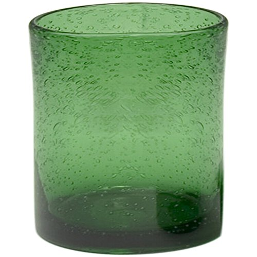 Artland Iris Double Old Fashioned Glasses, Green, Set of (Old Green Glass)