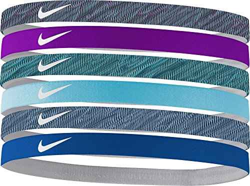 Price comparison product image Nike Women's Swoosh Headbands – 6 Pack, (Blustery)