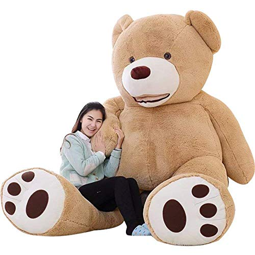 (IKASA Giant Teddy Bear Plush Toy Stuffed Animals Brown 78 inches)