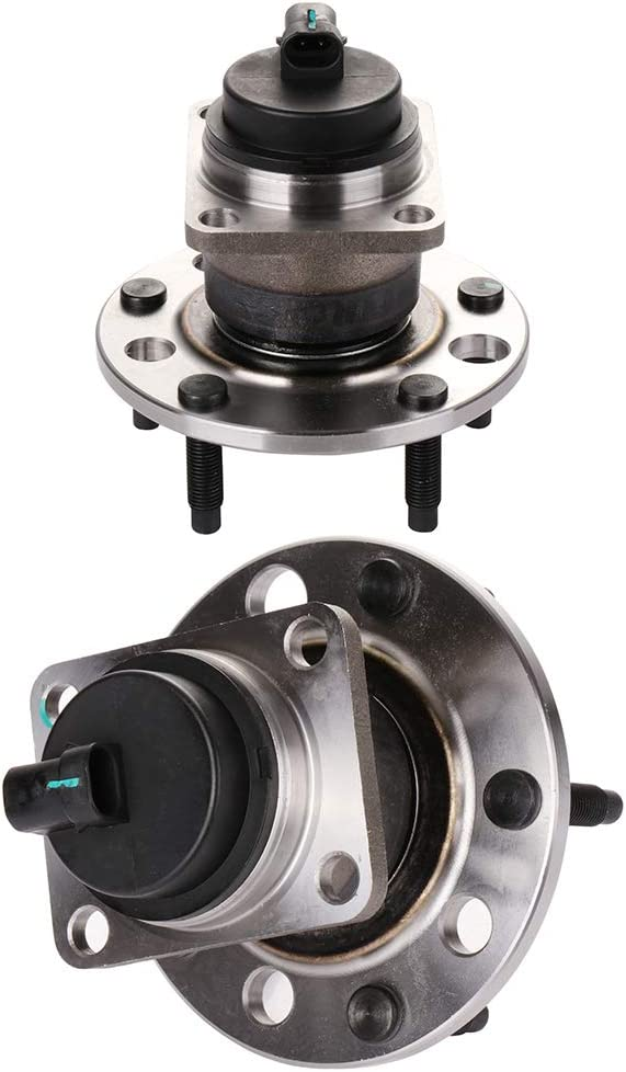 2 512244 Rear Wheel Hub Bearing Assembly fit 2006-2009 Buick Chevy 5 Lugs w//ABS SCITOO Compatible with Both