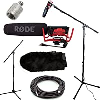 RODE VideoMic Studio Boom Kit with windmuff- VM, windmuff, Boom Stand, Adapter, 25 Cable