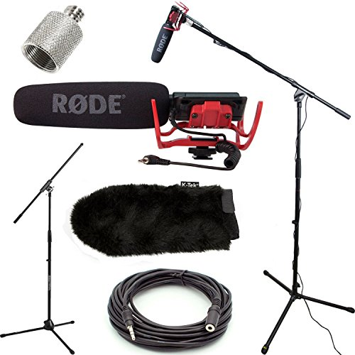 RODE VideoMic Studio Boom Kit with windmuff- VM, windmuff, Boom Stand, Adapter, 25' Cable Vm Mount Kit