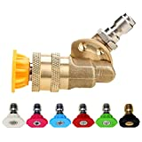 Cooyeah Pressure Washer Accessories Kit,7 Pressure Washers Nozzle...