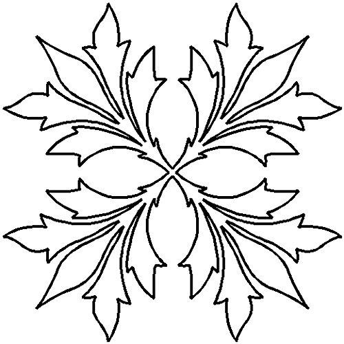Quilting Creations Elegant Leaf Block Continuous Line Quilting Stencil, 9