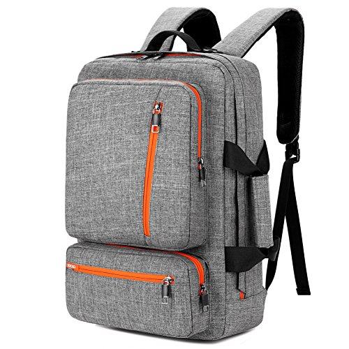 SOCKO Backpack Shoulder Knapsack Grey Orange product image