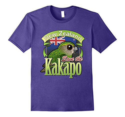 Mens Cute Cartoon Kakapo Parrot T-Shirt | Bird of New Zealand Top XL ()