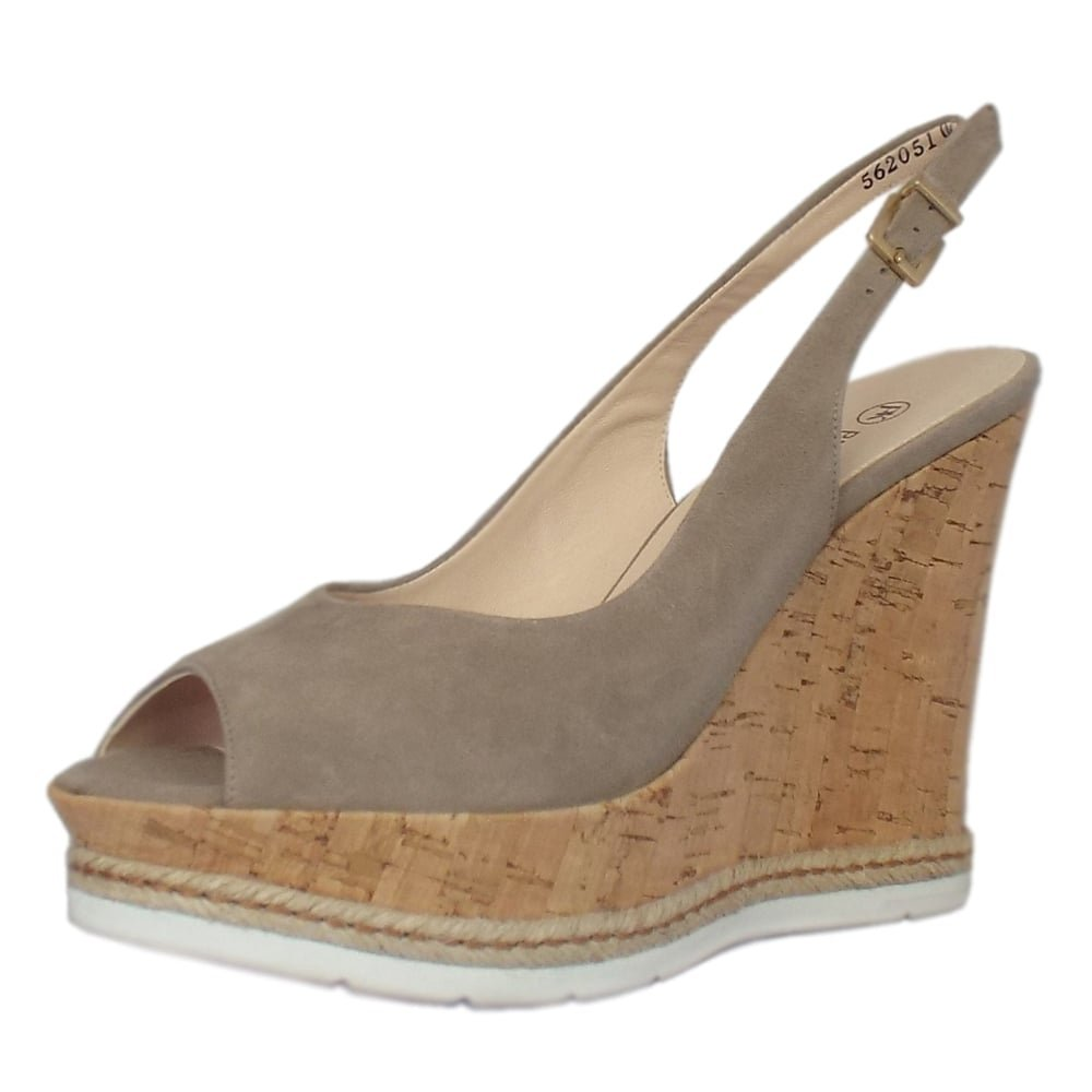 f0e982f8130 Peter Kaiser Regine Summer High Wedge Platform Sandals In Taupe Suede   Amazon.co.uk  Shoes   Bags