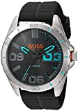 BOSS Orange Men's Quartz Stainless Steel and Resin Watch, Color:Grey (Model: 1513380)