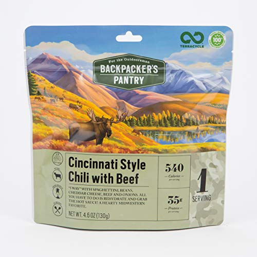 Backpacker's Pantry Outdoorsman Cincinnati Style Chili with Beef, 1 Serving Per Pouch, Freeze Dried Food, 33 Grams of Protein, See Packaging, 1 ()