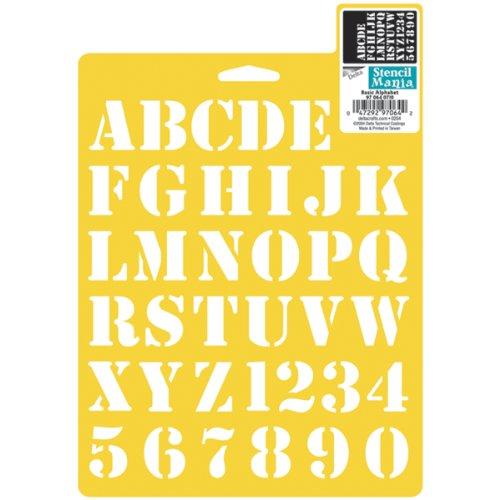 Delta Creative Stencil Mania Stencil, 7 by 10-Inch, 366088 Basic Alphabet