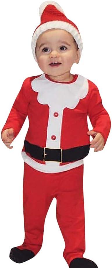 0-24 Meses Bebe Disfraz Navidad Duende Tops + Pantalones + Gorra ...