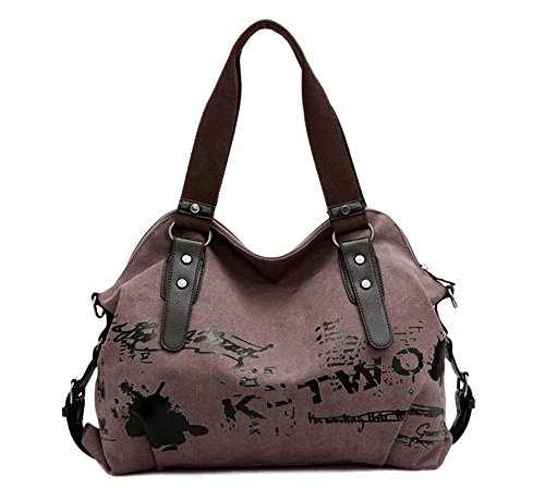 Cool Handbag Purple Graffiti Simple Tote Bag Womens Purple Dark Canvas Crossbody Dark TM Fansela qOwtYx6t
