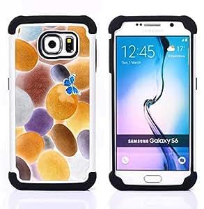 - Inverted Butterfly/ H??brido 3in1 Deluxe Impreso duro Soft Alto Impacto caja de la armadura Defender - SHIMIN CAO - For Samsung Galaxy S6 G9200