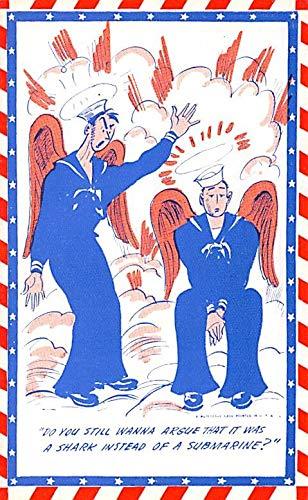 Military Comic Postcard, Old Vintage Antique Post Card Mutoscope Card Unused