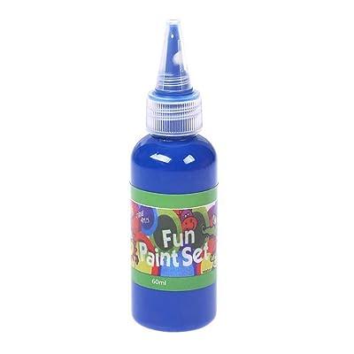 Fullfun Washable Children's Paint Acrylic Paint Hose DIY Wall Painting Washable Finger Art Paint (Blue): Electronics