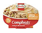 Hormel Compleats Turkey & Dressing, 10-Ounce Microwavable Bowls (Pack of 6)