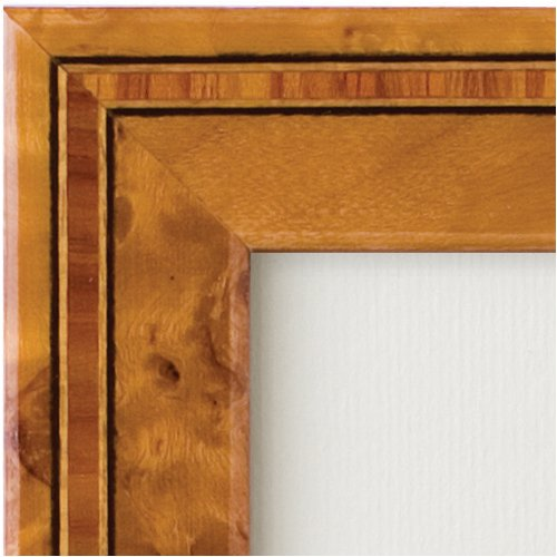 Eccolo Made in Italy Marquetry Wood Frame, Burl Wood, Holds an 8 x 10-Inch Photo