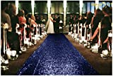 ShinyBeauty Aisle Runner-25FTX4FT-Navy, Aisle Runner Outdoor Wedding,Aisle Runner for Wedding, Sequin Aisle Runner,Aisle Runner Fabric, Wedding Walkway, Church Runner