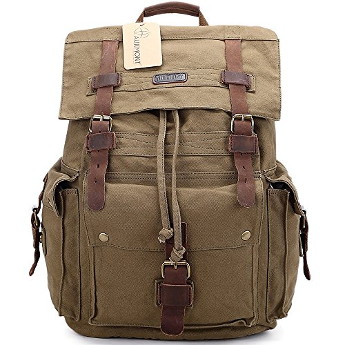 Vintage Canvas Backpack Outdoor Rucksack product image