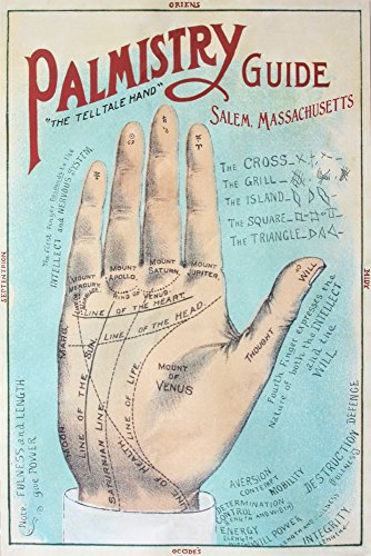 Salem, Massachusetts - A Picture of Good Health - Palmistry Chart Lithograph - Vintage Artwork (24x36 Fine Art Giclee Gallery Print, Home Wall Decor Artwork ()