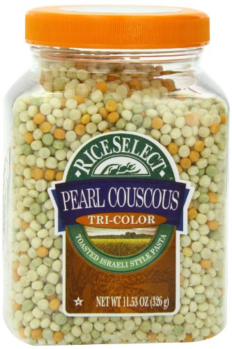 Riceselect Tri-Color Pearl Couscous, 11.53 oz Jars (Pack of 6)