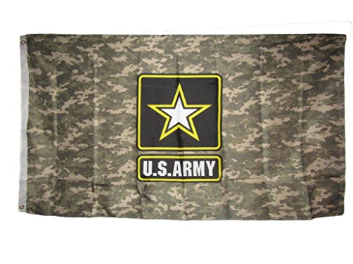 ALBATROS 3 ft x 5 ft US U.S. Army Star Desert Digital Camo Camouflage Flag Banner Grommets for Home and Parades, Official Party, All Weather Indoors Outdoors